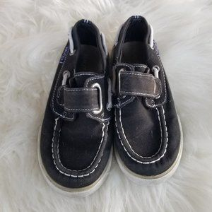Nautica | Kids Toddler Loafer Boat Shoes Black 9